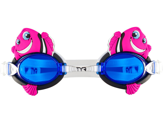 TYR Charactyrs Happy Fish Lunettes de protection Enfant, fluo pink